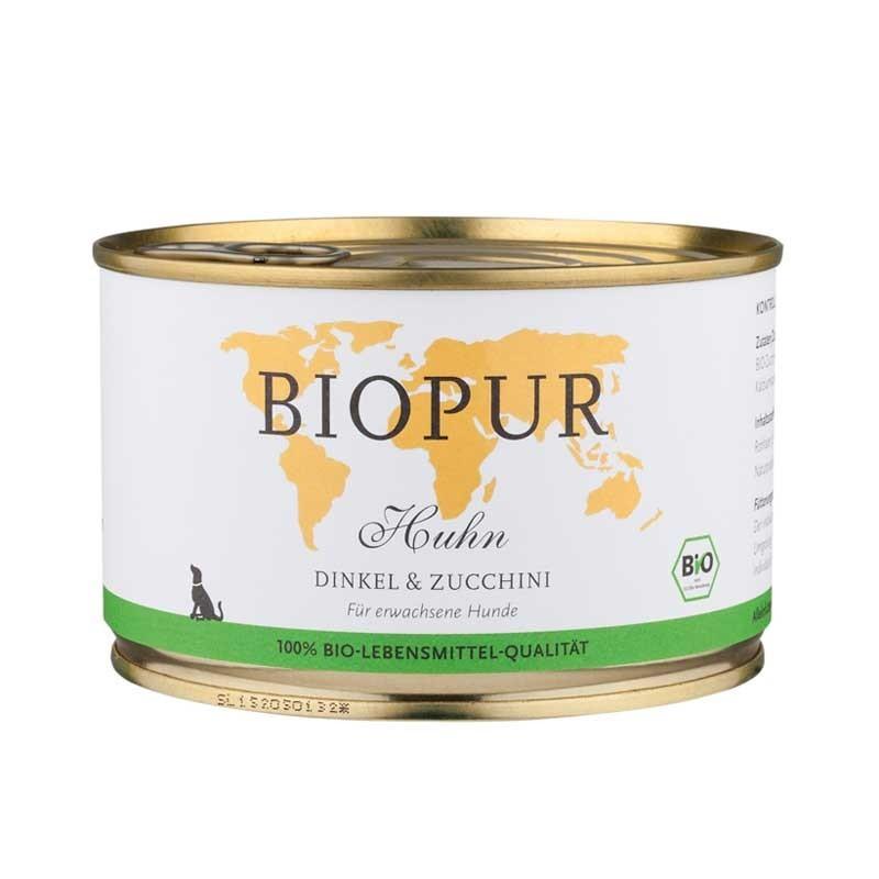 Biopur Adult Pollo, Farro e Zucchine Umido per Cani 400 g