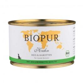 Biopur Senior Pollo, Riso e Carote Umido per Cani