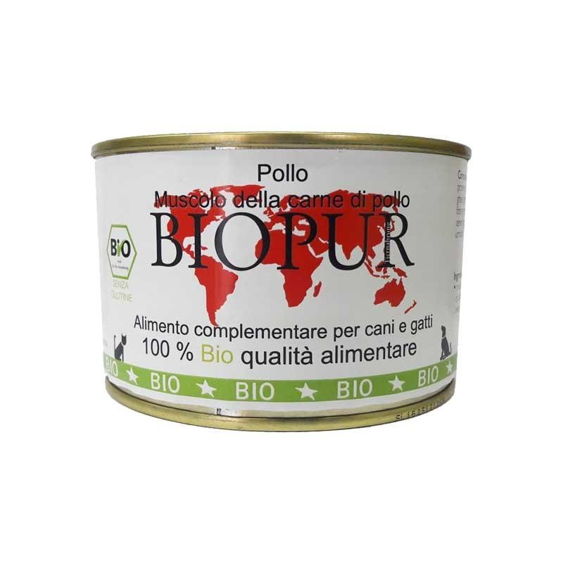 Biopur Pur Muscolo di Pollo Umido per Cani e Gatti 380 g