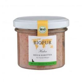 Biopur Puppy Pollo, Riso e Carote Umido per Cuccioli 100 g