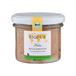 Biopur Adult Pollo, Riso e Carote Umido per Cani 100 g