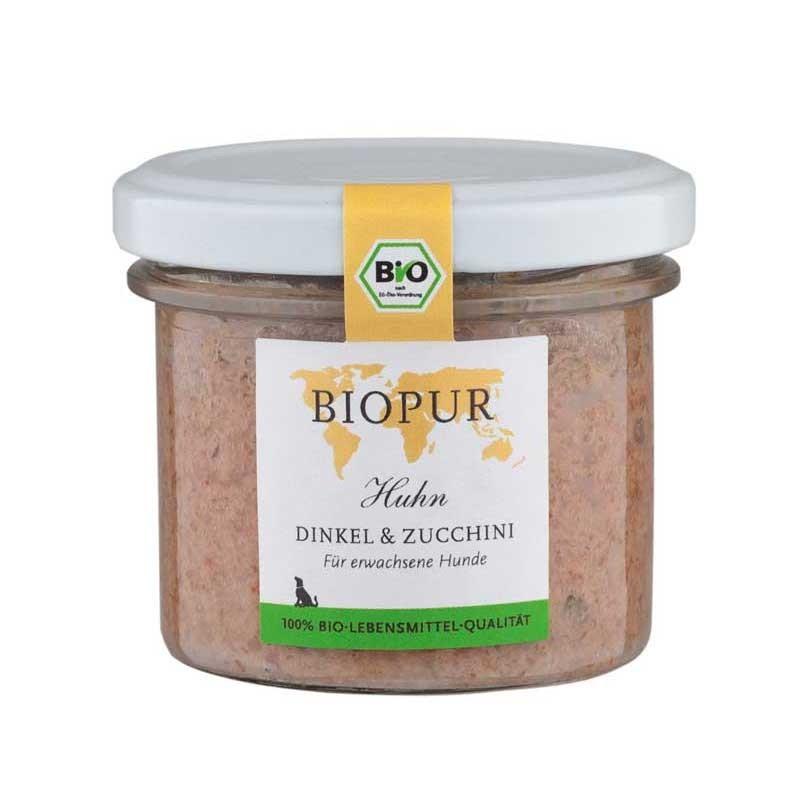 Biopur Adult Pollo, Farro e Zucchine Umido per Cani 100 g