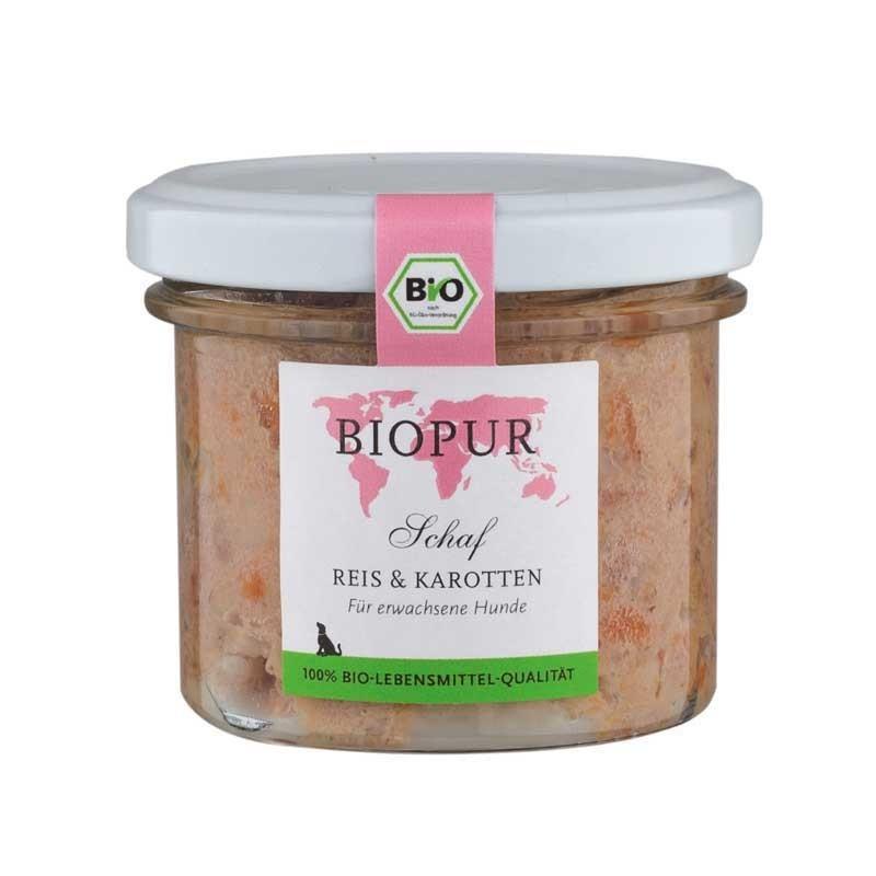 Biopur Adult Pecora, Riso e Carote Umido per Cani 100 g