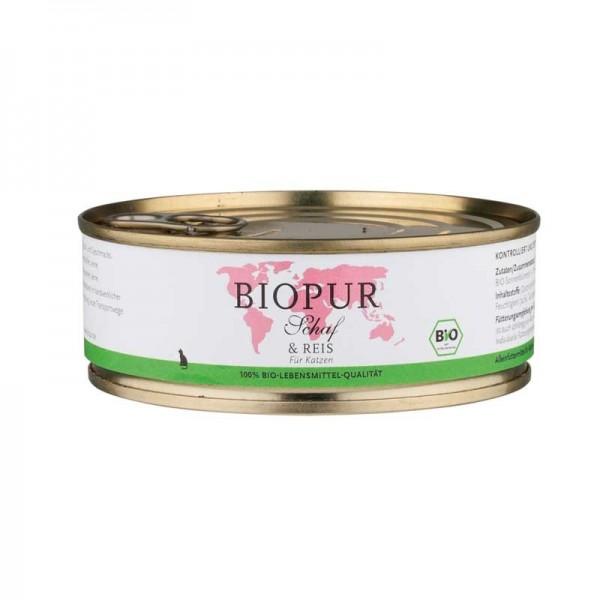 Biopur Adult Pecora e Riso Umido per Gatti 200 g