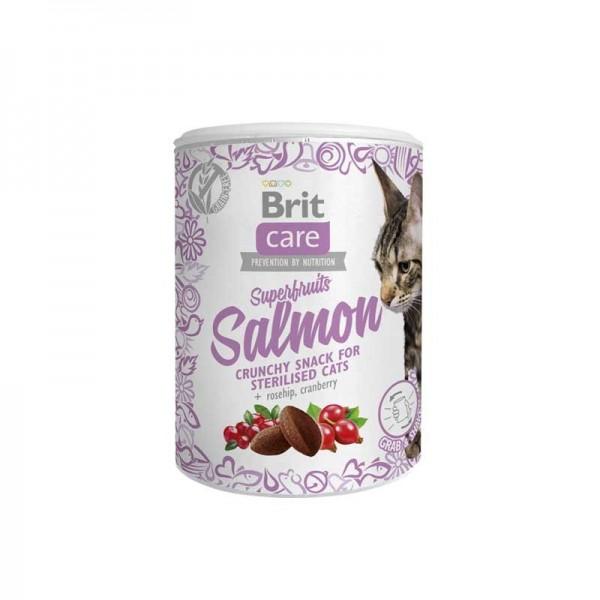 Brit Care Snack Superfruits Salmon per Gatti