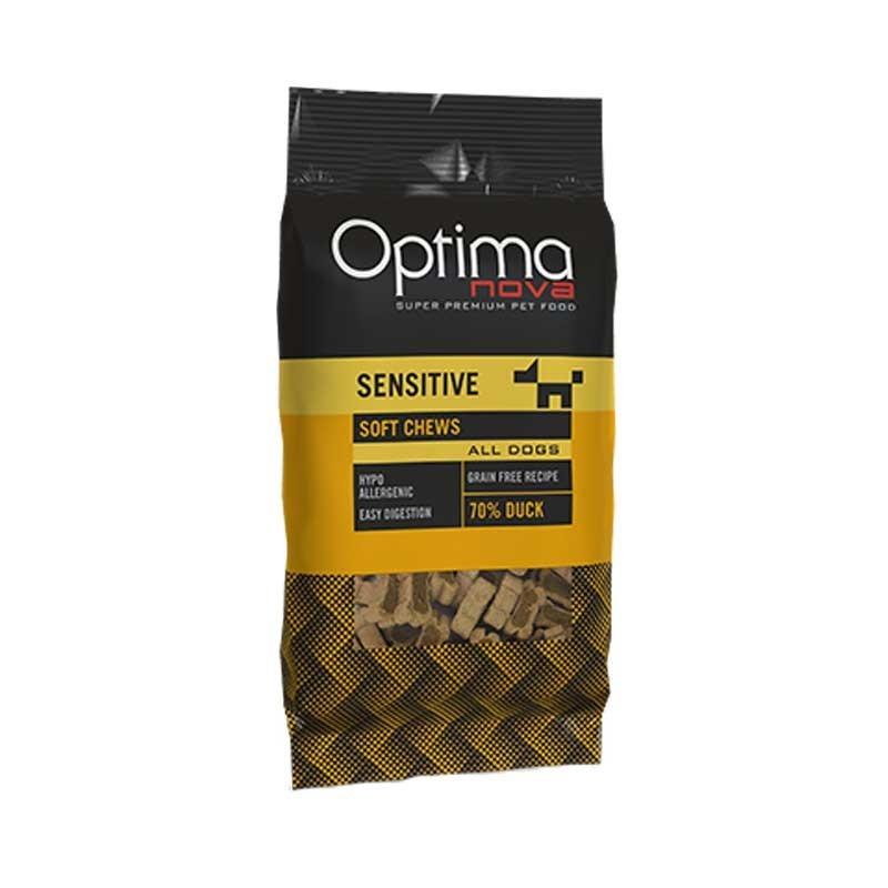 Optimanova Snack Sensitive con Anatra per Cani