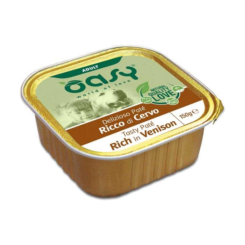 Oasy Adult Tasty Paté al Cervo Umido per Cani