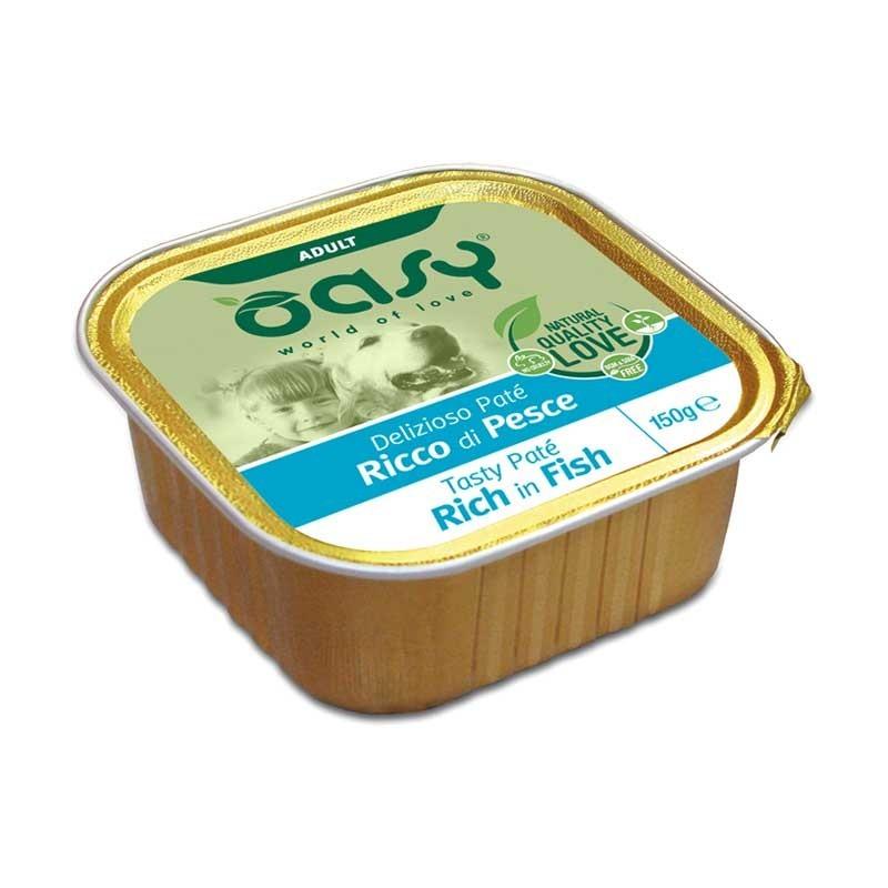 Oasy Adult Tasty Paté al Pesce Umido per Cani