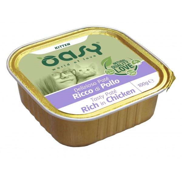 Oasy Kitten Tasty Paté al Pollo Umido per Gattini