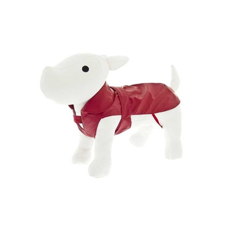 Ferribiella Impermeabile Pocket Rosso per Cani