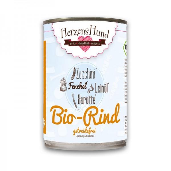Herzens Hund Manzo Biologico con Zucchine Bio Grain Free Umido per Cani