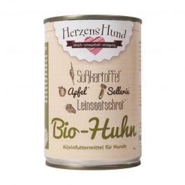 Herzens Hund Pollo Biologico con Verdure Bio Umido per Cani