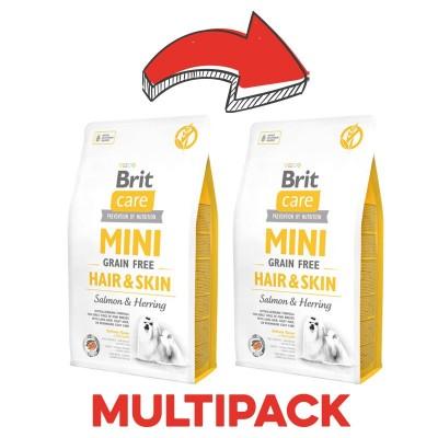 Brit Care Mini Grain Free Hair & Skin Salmone e Aringhe