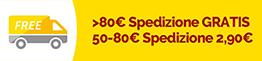 Spedizione gratis sopra i 50€